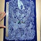 6857-HOLY FLAG CLOTH NARAI GARUDA RIDER RICH LOVE LP KALONG AMULET THAI REAL B+W