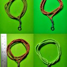 12 INCH NECKLACE NYLON Handmade Strand/String ADJUSTABLE HOOK No Metal no Stone
