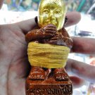 6338-THAI REAL AMULET CLAY GUMAN THONG GOLD FACE 27 SPIRIT FINAL BATCH LP GOY MD