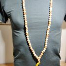 6848-REAL THAI AMULET NECKLACE SACRED BUDDHA RELIC STONE 108 BEAD YELLOW BIG