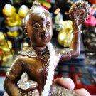 7626-THAI REAL AMULET GUMAN 9 SKULL RIDER SUPPER POWER BOY BRONZE AJHAN WERATHEP