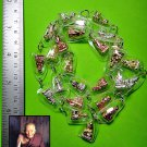 6888-REAL THAI AMULET HOLY NECKLACE CHAIN SET 25 SMALL LP TUAD MONK 3COLOR METAL
