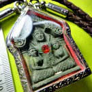 9059-REAL THAI AMULET KHUN-PAEN 2 WIFE CHARMING LADY ATTRACT LOVE LUCKY LP CHEEN