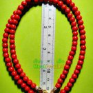 6689-HANDMADE NECKLACE BEAD HANDICRAFT W-HOOK FOR WEARING THAI AMULET RED STONE