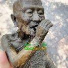 8512-BUCHA BIG STATUE LP KALONG TWIN PIG RIDER BLESS AMULET THAI CHARM REAL 2009