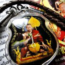 7094-THAI REAL AMULET INCREASE LIFE TO BEST LP NAEN PHOTO PENDANT BLACK COLOR