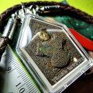 7341-THAI REAL AMULET PENDANT KHUN PEAN GOLD FACE BRING MERCY CHARM KUBA SUBIN