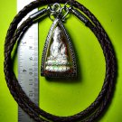 6877-THAI REAL AMULET PHA-KRING BELL ATTRACT MONEY RICH LP KOON SILVER PENDANT