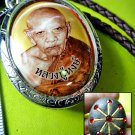 7025-THAI REAL AMULET LOCKET RICH MONEY GOLD 24K TAKUD MASTER EDITE LP HONG 2003