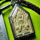 6887-THAI REAL AMULET RAHU KHUN PAEN CHARMING MONEY RICH RID DEBS LP KEY WHITE