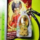 7093-THAI REAL AMULET PENDANT RICHLY WEALTH GOD NAGA PROTECTION LP NAEN GOLD 18K