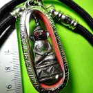9046-REAL THAI AMULET BRONZE NGUNG RED EYE MONKEY CHARMING LOVE LP KEY BRONZE