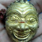 9979-JAW-NGOE RICHLY POWER BRONZE MASK HERMIT AMULET THAI REAL LP DENG (SEDTI)
