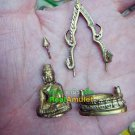 6476-THAI REAL AMULET CHINNARAJ BRONZE HAND CARVE 108 MONK MASS BLESSING WAT NOK