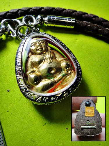 6262-SANKAJAI RICH GOD AMULET THAI LUCKY REAL 18K GOLD MASK WEALTH RICH LP UPP