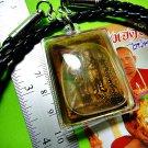 7351-THAI AMULET REAL TWIN SPIRIT RAK-YOM BOY GIRL PROTECTION POWER LP NAEN 2011