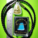 8920-THAI REAL TRIANGEL AMULET MONK GROUP BANGKLAN MASS BLESSING LP NGERN BRONZE