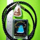 8919-THAI REAL TRIANGEL AMULET MONK GROUP BANGKLAN MASS BLESSING LP NGERN COPPER