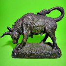 9440-REAL THAI AMULET HOLY BUFFALO COW PROTECTION GHOST BRONZE STATUE LP KALONG