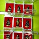 REAL THAI AMULET GUMAN BOY SPIRIT RICH LUCKY BONE LP NAEN NEN DOLL BLACK GOLD