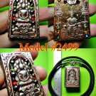 BUDDHA THAI AMULET ANCIENT SOMDEJ SILVER LEKLAI RELIC GEMS COLOR MONK BLESSED
