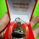 9599-REAL THAI AMULET MINI STATUE LP TUAD BRONZE FRIGURE LP DANG MONK BLESS 2008