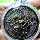 9368-REAL AMULET THAI WHEEL MEDAL NARAI GOD FULFILL WISTFUL MIND 8 ARMS LP AUNT