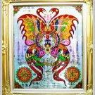 6062-THAI REAL AMULET SOMDEJ PAINT BUTTERFLY LOVE RICH SPIDER KUBA KRITSANA 2011
