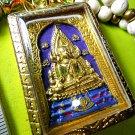 6474-HAND PAINT THAI REAL AMULET CHINNARAJ SOMDEJ 108 MONK MASS BLESSED WAT NOK