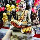 6205-THAI REAL AMULET STATUE LERSRI TIGER FACE MASTER PAINT HERMIT LP NAEN NEN