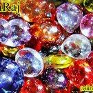 0145-THAI REAL AMULET NAGA EYE DIVINE BLESS GEMS STONE LEKLAI PINK HEART MONK