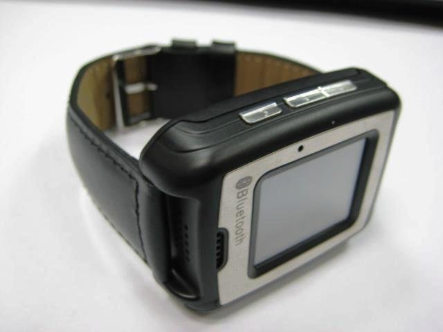 UNLOCKED GSM TRI-BAND CELL PHONE WATCH TOUCH SCREEN LEATHER