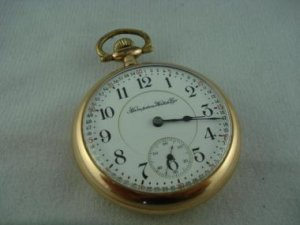 Hampden USA Gold Toned 17 Jewel Pocket Watch 2772282