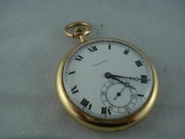 Hamilton 17 Jewel Gold Toned Pocket Watch 1836650