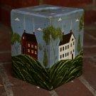 Primitive New England Wooden Tissue Box Cover Folk Art OOAK