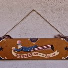 Flying Uncle Sam Sign Primitive Folk Art original OOAK