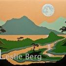 Canyon of the Cypress Moon original acrylic painting OOAK