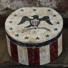 Colonial Reproduction Keeping Box OOAK original primitive americana folk art