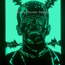 Frankenstein Boris Karloff led lighted portrait OOAK