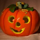 candle holder pumpkin jack o' lantern luminaria hand painted halloween