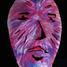 Mr. Asterisk metal art sculpture wall hanging mask OOAK original
