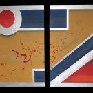 Martian Politics diptych two piece wall art OOAK