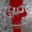 Nuclear Hangover textured aluminum metal art sculpture original OOAK halloween skull