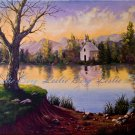 Twilight Chapel original ooak painting with certificate of authenticity