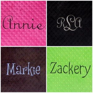 Personalized Monogrammed Standard Minky Pillowcase