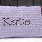 Lavender & Brown Personalized~Monogrammed Minky Baby/Toddler Pillow Case ~ Perfect Baby Shower Gift