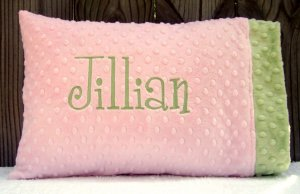 Baby or Toddler 12x16 Personalized Minky Pillowcase and Pillow