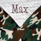 Camo Minky Baby Blanket Personalized