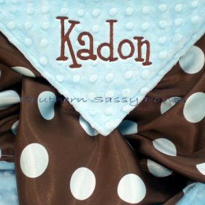 Personalized Satin and Minky Baby Blanket