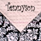 Dandy Damask Minky Baby Blanket PERSONALIZED